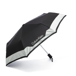 Calvin Klein Women's Medium Foldable Umbrella - Black
