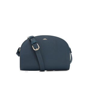 A.P.C. Women's Demi-Lune Cross Body Bag - Bleu Canard