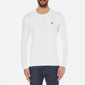 Polo Ralph Lauren Men's Crew Neck Pima Cotton Knitted Jumper - White