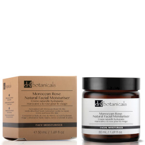 Crema facial hidratante natural de rosa de Marruecos de Dr Botanicals 50 ml