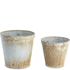 Nkuku Abari Zinc Flower Pot 22 x 23cm