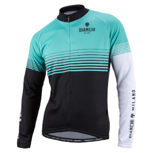 Bianchi Aurino Long Sleeve Jersey - Green/Black/White
