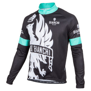 Bianchi Sorisole Long Sleeve Jersey - Black/Green