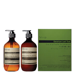 Aesop Geranium Leaf Body Cleanser and Balm Duet: Image 1