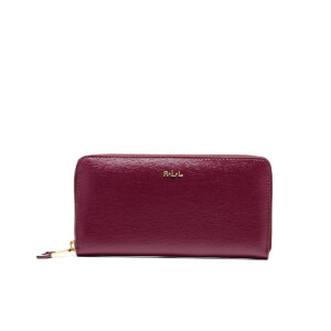 Lauren Ralph Lauren Women's Tate Zip Around Wallet - Claret