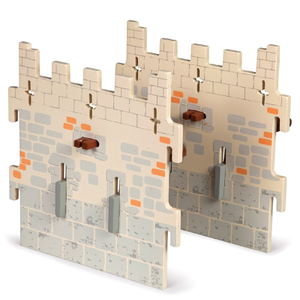 Papo Medieval Era: Weapon Master Castle - 2 Medium Walls (Set 5)