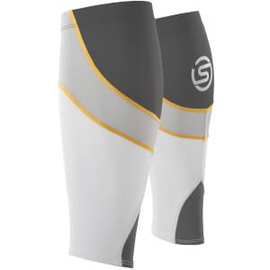 Skins Essentials Unisex Calf Tights MX - White/Pewter