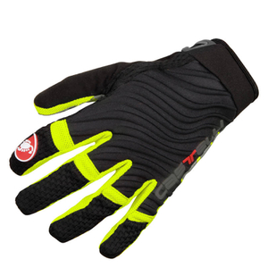 Castelli CW 6.0 Cross Gloves - Black/Yellow Fluro