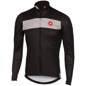Castelli Raddoppia Long Sleeve Jersey - Black/Grey