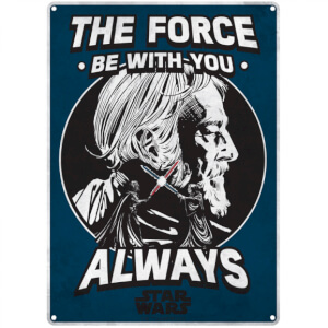 Star Wars 'The Force' Small Tin Sign 29cm x 42cm