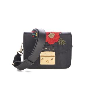Furla Women's Metropolis Floral Mini Cross Body Bag - Onyx