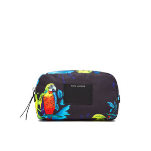 Marc Jacobs Women's Parrot Printed Large Cosmetics Bag - Black Multi