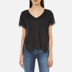 Helmut Lang Women's Lace T-Shirt - Black