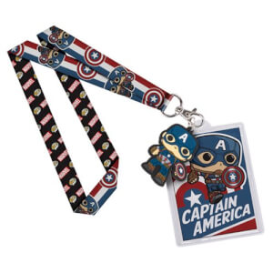 Captain America Pop! Lanyard