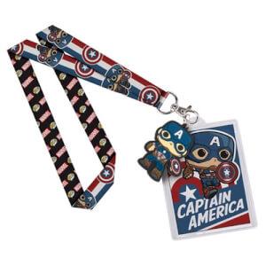 Porte-Clefs Lanière Pop! Captain America Marvel