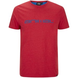 Animal Men's Marrly T-Shirt - Crimson Red Marl