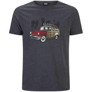 Animal Men's Woody T-Shirt - Total Eclipse Navy Marl