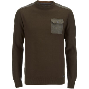 Threadbare Men's Karlson Crew Neck Jumper - Sage Green