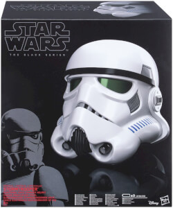Replica dell'elmetto di uno Stormtrooper di Star Wars con modificatore di voce Black Series Hasbro
