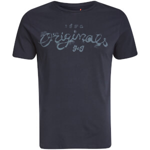 T-Shirt Homme Originals Miller Jack & Jones -Bleu Marine