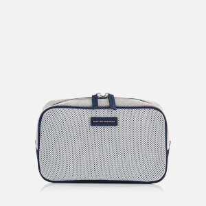 WANT Les Essentiels de la Vie Men's Fellini Travel Case - Black/White/Pebble