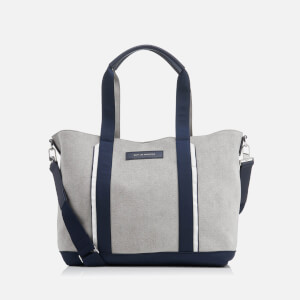WANT Les Essentiels de la Vie Men's Marti Open Tote Bag - Pebble/Navy