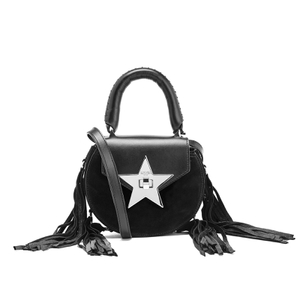 SALAR Women's Mimi Fringe Bag - Nero