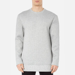 Helmut Lang Men's Box Fit 3D Logo Sweatshirt - Heather Grey
