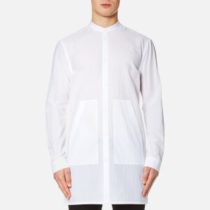Helmut Lang Men's Mandarin Collar Long Shirt - Optic White