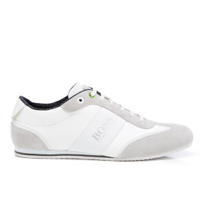 BOSS Green Men's Lighter Low Top Trainers - White