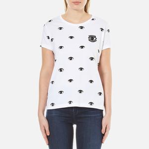KENZO Women's Allover Eyes Printed Cotton T-Shirt - White