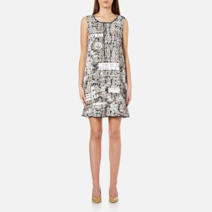 KENZO Women's Snake Flyer Viscose Crepe Dress - Beige