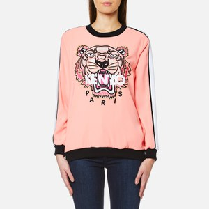 KENZO Women's Crepe Back Satin Tiger Sweatshirt - Flamingo Pink
