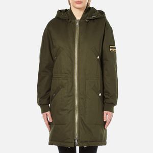 KENZO Women's Cotton New York Paris Parka Jacket - Dark Khaki