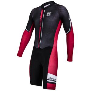 Santini Dirt Shell Aquazero Cyclocross Speedsuit - Black/Red