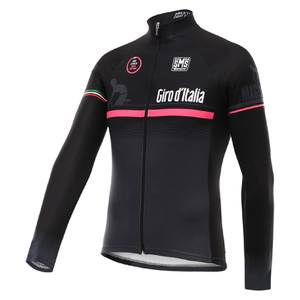 Santini Giro d'Italia 16 Maglia Nero Thermal Long Sleeve Jersey - Black