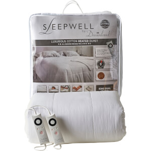 Dreamland 16330 Sleepwell Intelliheat Luxury Heated Cotton Duvet - White - King Dual