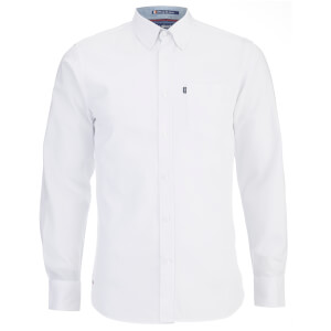 Le Shark Men's Hartford Long Sleeve Shirt - Optic White
