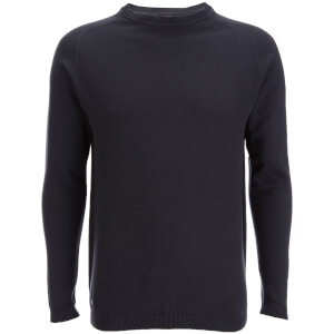 Kensington Eastside Men's Henry Cotton Crew Neck Jumper - Charcoal