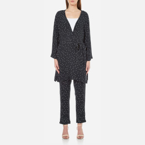 Ganni Women's Rosemont Crepe Dotted Kimono - Dotted Eclipse