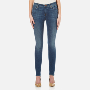 J Brand Women's Maria High Rise Skinny Cross Hatch Super Stretch Jeans - Identity