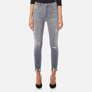 J Brand Women's Alana High Rise Crop Skinny Jeans - Provocateur Destruct