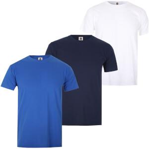 Lote de 3 camisetas Varsity Team Players - Hombre - Blanco/azul marino/azul