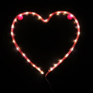 Nylon Heart Light (Battery Operated): Image 1