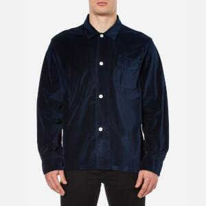 Our Legacy Men's Velvet Box Shirt - Navy
