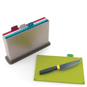 Joseph Joseph Index Silver Chopping Board With Free Elevate Chef Knife