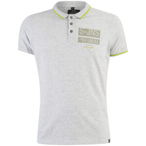 Polo Homme Homme Albedo Smith & Jones - Gris Clair Chiné
