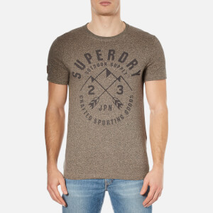 Superdry Men's Expedition Short Sleeve T-Shirt - Pebble Jaspe