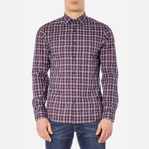 Michael Kors Men's Slim Caden Plaid Shirt - Blackberry