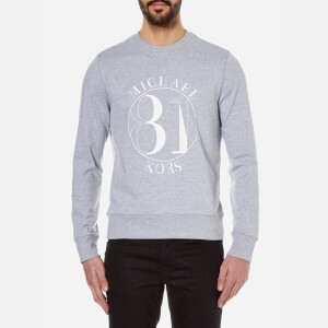 Michael Kors Men's Slogan Terry Crew Sweatshirt - Heather Grey